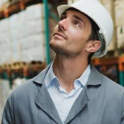 Male in warehouse