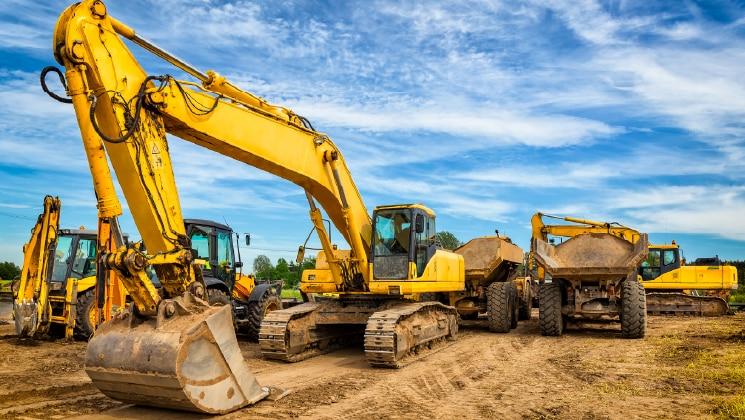 Crane at construction job site