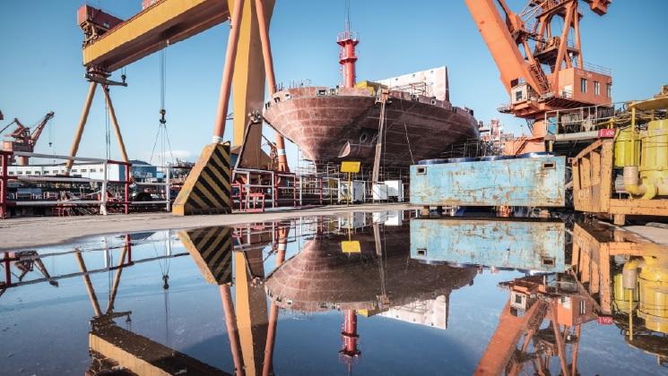 Shipyard dock